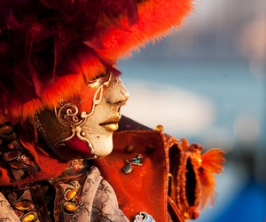 red, carnival, and venice image
