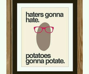 quote, funny, and potato image