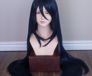anime, long hair, and raven black image