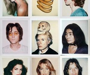 john lennon, andy warhol, and polaroid image