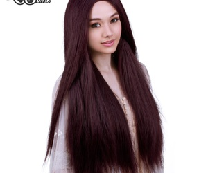 long hair, straight hair, and wigs image