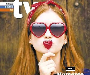 heart shapped glasses, redhead, and marina ruy barbosa image