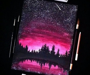 art, pink, and drawing image