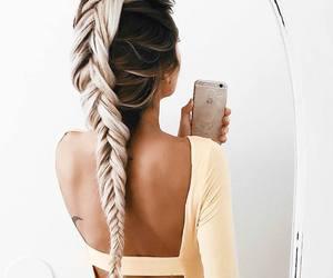 apple, braid, and fashion image