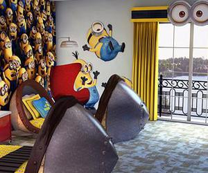 bedroom, funny, and minions image