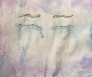 art, crying, and painting image