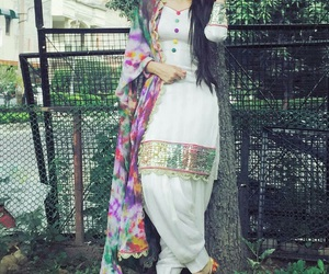 colorful, dress, and longhair image