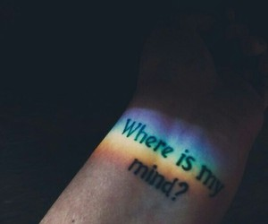 rainbow, tattoo, and mind image