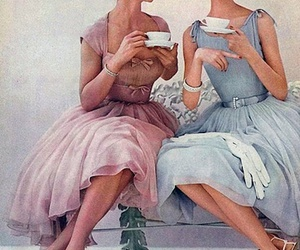 vintage, tea, and dress image