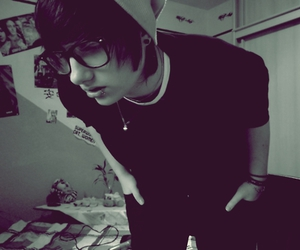boy, emo, and glasses image