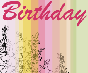 birthday, card, and color image