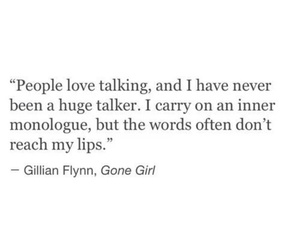 quote, gone girl, and words image