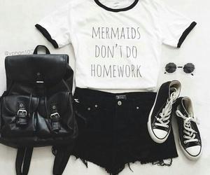 mermaid, ootd, and school image
