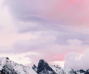 mountain, white, and clouds image