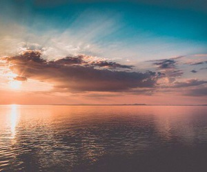 sea, landscape, and clouds image