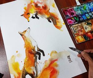 fox, drawing, and art image