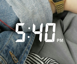 american apparel, casio, and denim image