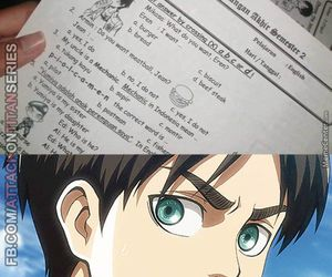 anime, attack on titan, and exam image