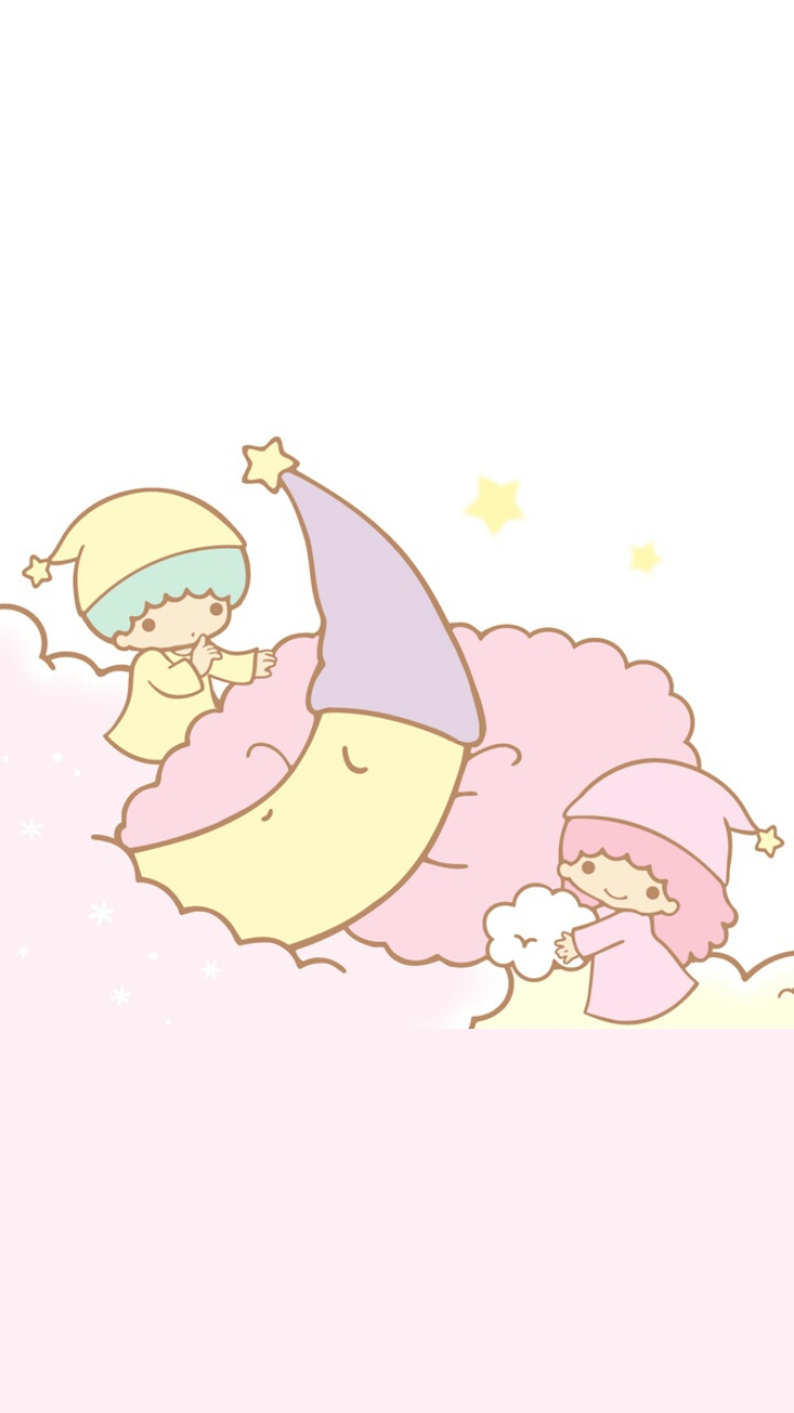 Art Background Beautiful Beauty Cartoon Clouds Couple Cute Art Drawing Illustration Kawaii Pastel Sanrio Stars Wallpaper Wallpapers We Heart It White White Color Little Twin Stars Pink Background Wallpaper Iphone Beautiful Art