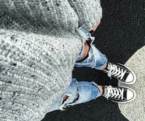 fashion, converse, and jeans image
