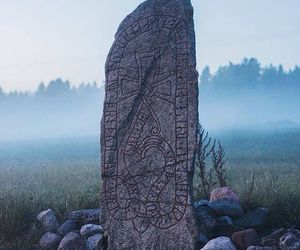 nature, stone, and viking image