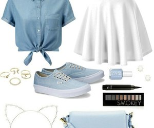 blue, look, and outfit image