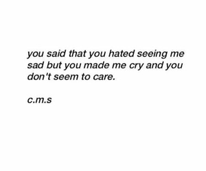 crying, quotes, and you dont care image