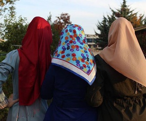 friends, bff, and hijab image