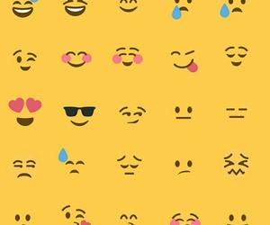 background, yellow, and emojis image
