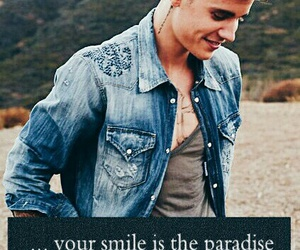justin, smile, and wallpaper image