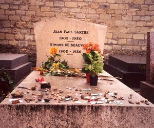 simone de beauvoir, love, and grave image