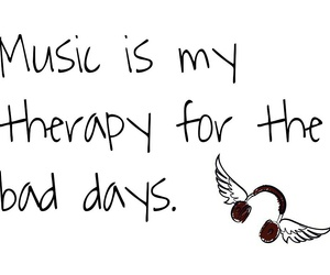 music, therapy, and bad+days image