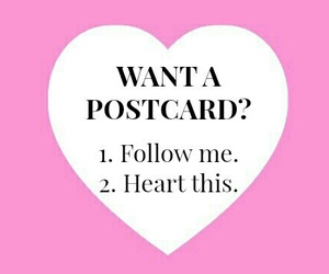 follow, postcard, and we heart it image