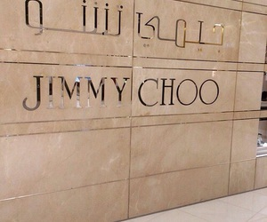 Jimmy Choo, beige, and theme image