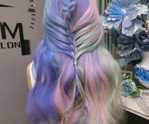 hair, fashion, and pastel image