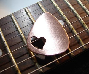 acoustic guitar, guitar, and love image