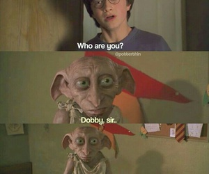 harry potter, dobby, and book image