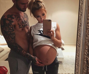 apple, baby girl, and belly image