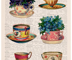 eco friendly, etsy, and vintage tea cups image