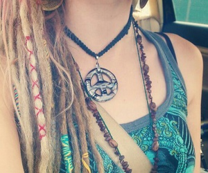peace, hippie, and dreads image