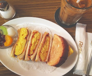 coffee, lunch, and egg image