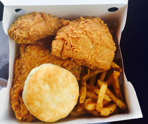 food, fries, and biscuits image