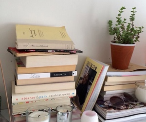 books, plant, and cult image
