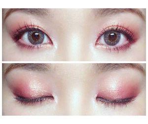 asian, eyeshadow, and ハート image