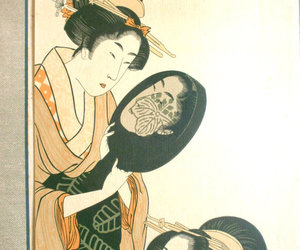 asian, japanese vintage, and chrysanthemum image