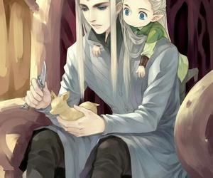 thranduil, Legolas, and the hobbit image