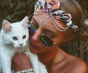 cat and hippie image