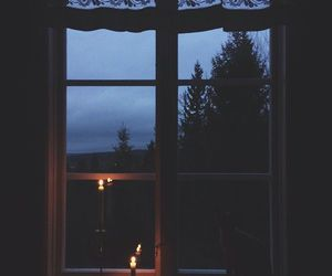 candle, night, and window image