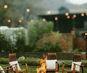 bonfire, home, and lights image