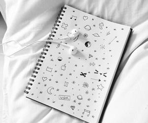 white, tumblr, and music image